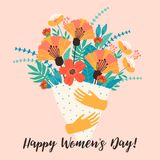 International Women s Day. Vector template. International Women s Day. Vector template for card, poster, flyer and other users Royalty Free Stock Photography