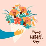 International Women`s Day. Vector template. International Women`s Day. Vector template for card, poster, flyer and other users Stock Images