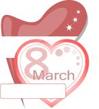 International womens day on 8th march. calendar Royalty Free Stock Photos