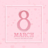 International womens day background. Royalty Free Stock Images