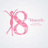 International womens' day, background. International woman day background. 8 march, use for greeting and invitation card.  poster, backdrop. flat design. vector Stock Photo
