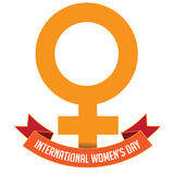 International Womens Day icon isolated Royalty Free Stock Photo