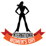 International Womens Day icon on white Royalty Free Stock Image