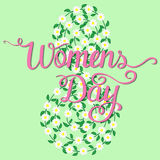 International Womens Day. Lettering design. Royalty Free Stock Image