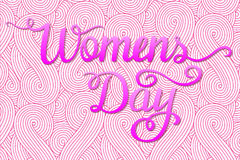 International Womens Day. Lettering design. Royalty Free Stock Images