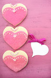 International Womens Day, March 8, heart shape cookies Royalty Free Stock Images