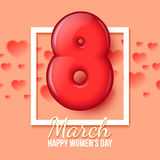 International Womens Day. March 8. volume eight Stock Image