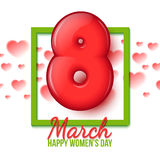International Womens Day. March 8. volume eight Stock Photo