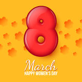 International Womens Day. March 8. volume eight Stock Images