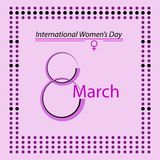 International Womens Day poster minimalist design. International Womens Day poster or card, elegant minimalist design royalty free illustration
