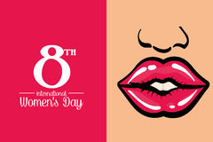 International womens day poster Royalty Free Stock Images