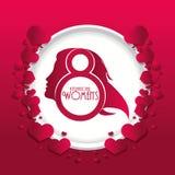 International womens day red hearts. Illustration eps 10 Stock Illustration