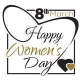 International Womens Day. 8 th March. Typographic design. Happy Womens Day lettering card. International Womens Day. 8 th March. Typographic design. Vector black vector illustration