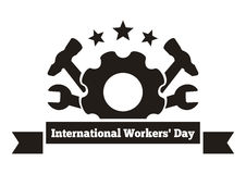 International Workers Day. Labor Day logo. May Day. Workers Day greeting card. Vector illustration isolated on white background Stock Photo