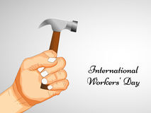 International workers day or May Day backgroundground. Illustration of elements for International workers day or May Day Royalty Free Stock Images