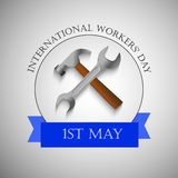 International workers day or May Day backgroundground Royalty Free Stock Images
