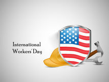 International workers day or May Day backgroundground. Illustration of elements for International workers day or May Day Stock Image
