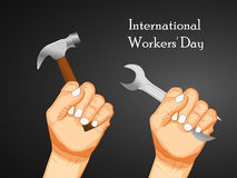 International workers day or May Day backgroundground. Illustration of elements for International workers day or May Day Stock Images