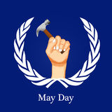 International workers day or May Day backgroundground Royalty Free Stock Image