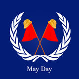International workers day or May Day backgroundground. Illustration of elements for International workers day or May Day Stock Photography