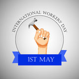 International workers day or May Day backgroundground Stock Image