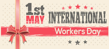 International Workers Day. 1st May. Retro design. International Workers Day. 1st May. Retro background for 1 May. Vector vintage template flyer for Labor Day Stock Image