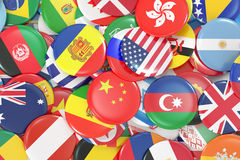 International World Flags Badges Royalty Free Stock Photos