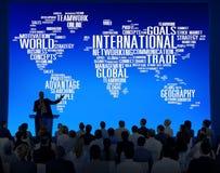 International World Global Network Globalization International C. Oncept royalty free illustration