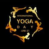 International yoga day Royalty Free Stock Photography