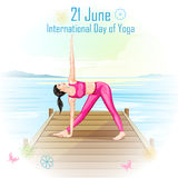 International Yoga Day Royalty Free Stock Photo
