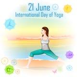 International Yoga Day Royalty Free Stock Images