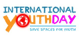 International Youth Day. On August 12 Background Royalty Free Illustration