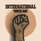 Print. International youth day banner Vector Illustration
