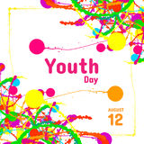International Youth Day greeting card, August 12. Vector design element Vector Illustration