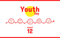 International Youth Day greeting card, August 12 Royalty Free Stock Photos