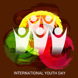 International Youth Day. Royalty Free Stock Photography