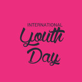 International Youth Day. Royalty Free Stock Photos