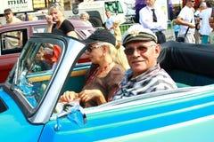 Internationale antieke motorvoertuigverzameling 'Riga Retro' 2013 Stock Fotografie