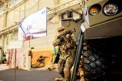 13. internationale Ausstellung von Bewaffnungen Waffen und von Sicherheit 2016 Lizenzfreies Stockbild