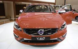 Volvo V60 in New York wordt gedemonstreerd Autodie toont Royalty-vrije Stock Foto