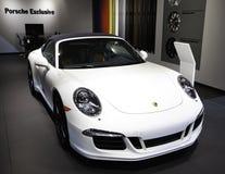 Porsche in New York wordt gedemonstreerd Autodie toont Stock Foto