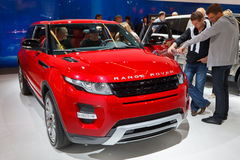 Internationale Automobil Ausstellung. FRANKFURT - SEP 17: Range Rover Evoque Coupe car shown at the 64th Internationale Automobil Ausstellung (IAA) on September Stock Image