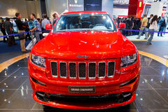 Internationale Automobil Ausstellung. FRANKFURT - SEP 17: Jeep Grand Cherokee car shown at the 64th Internationale Automobil Ausstellung (IAA) on September 17 Royalty Free Stock Photography
