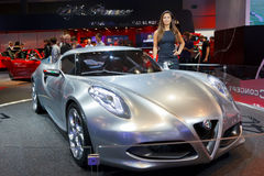 Internationale Automobil Ausstellung. FRANKFURT - SEP 17: Alfa Romeo 4C Sport car shown at the 64th Internationale Automobil Ausstellung (IAA) on September 17 Stock Image