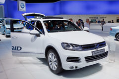 Internationale Automobil Ausstellung. FRANKFURT - SEP 17: Volkswagen Touareg Hybrid car shown at the 64th Internationale Automobil Ausstellung (IAA) on September Royalty Free Stock Photography
