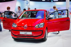 Internationale Automobil Ausstellung. FRANKFURT - SEP 17: Volkswagen up! car shown at the 64th Internationale Automobil Ausstellung (IAA) on September 17, 2011 Stock Image