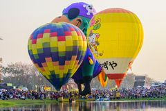 Internationale Ballonfiesta 2018 in Singha-Park, Chiang Rai, Th Royalty-vrije Stock Foto