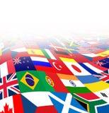 Internationale BedrijfsAchtergrond Stock Fotografie