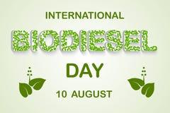 Internationale Biodieseldag Royalty-vrije Stock Afbeeldingen