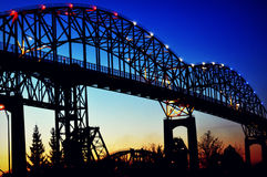 Internationale Brücke in Sault Ste marie Lizenzfreies Stockbild